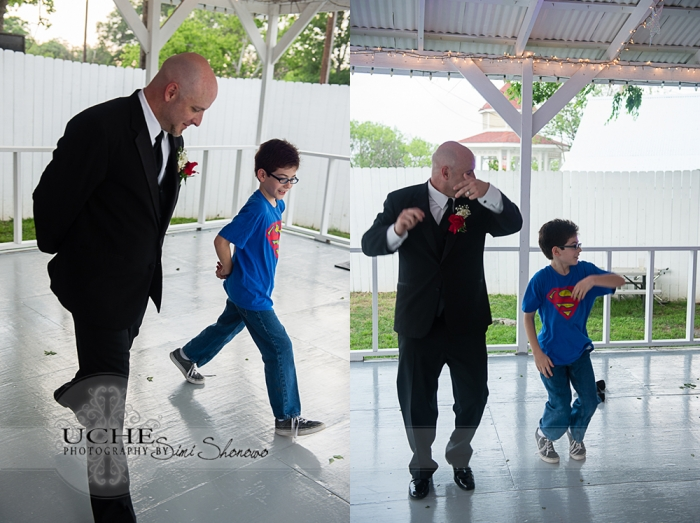 dad and son dance