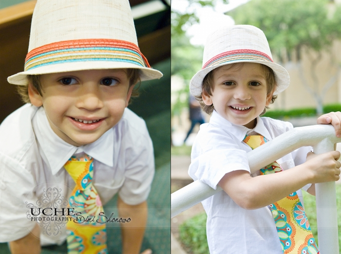 Hudson's stylish and colorful ensemble