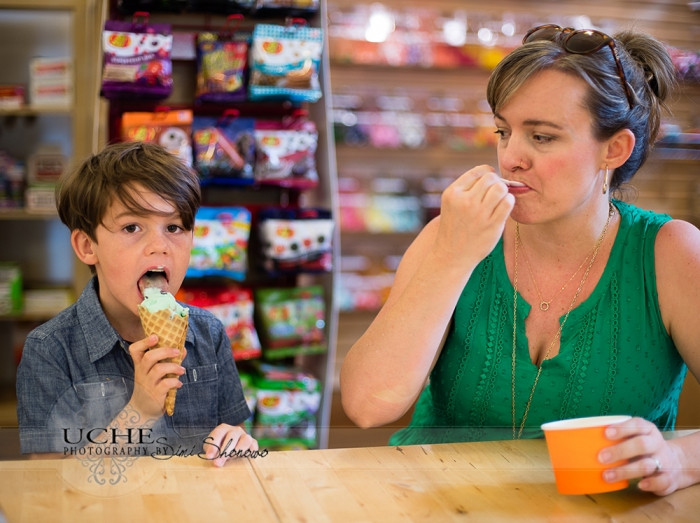 16_tsh and finns lick the delicious ice cream at All Things Kids Georgetown Texas