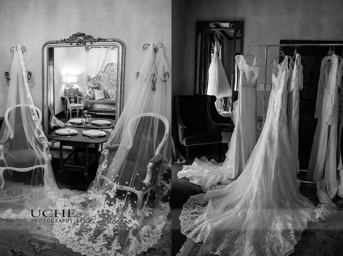 01_first sighting of A.Cherie couture veils and wedding dresses in bridal room at Ma Maison Wedding Venue trunk show