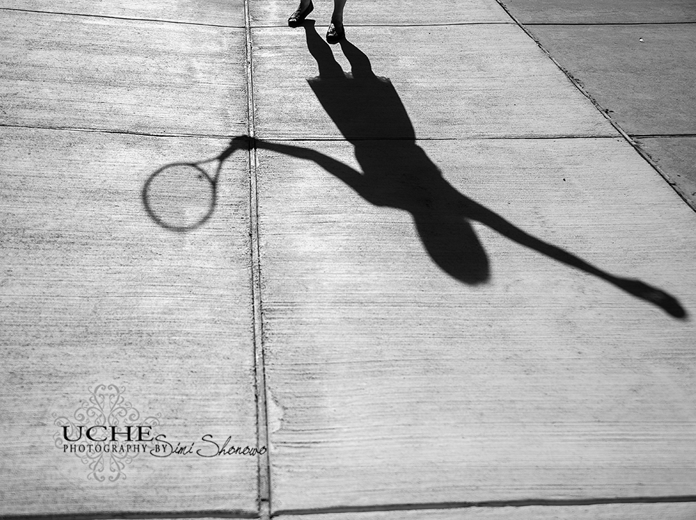tennis girl shadow