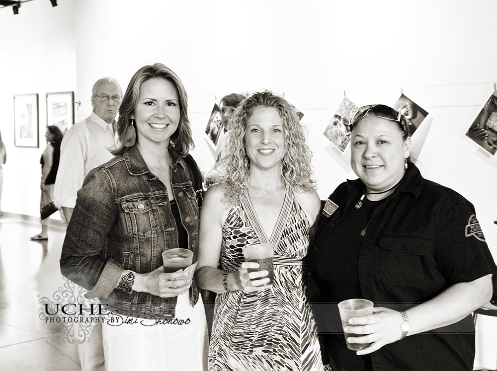 three ladies visit